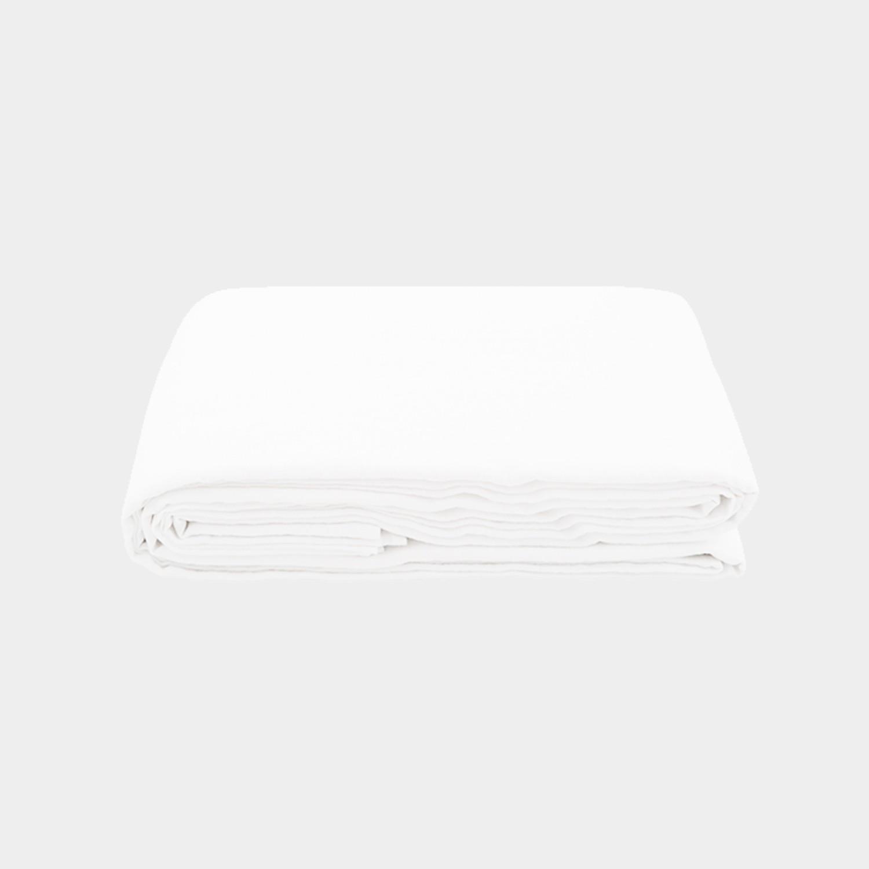 Premium Linen Flat Sheet White