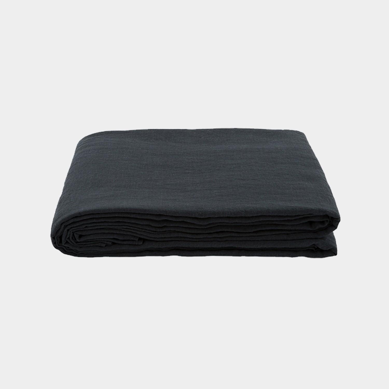 Premium Linen Flat Sheet Anthracite