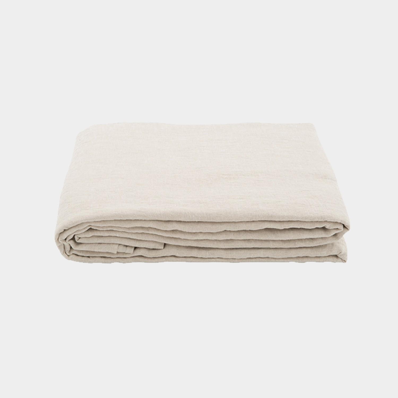 Premium Linen Flat Sheet Natural