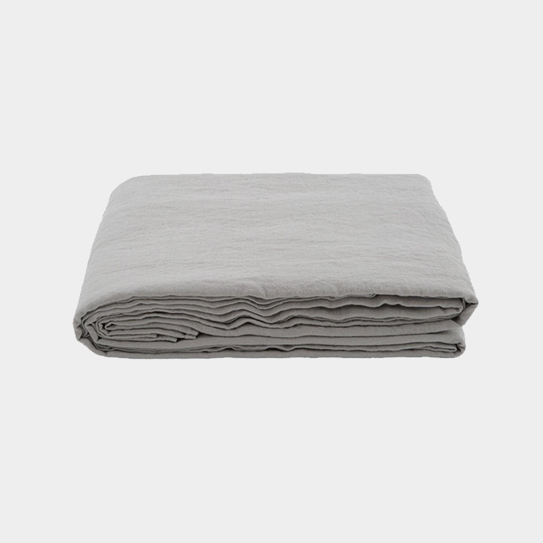 Premium Linen Flat Sheet Gray