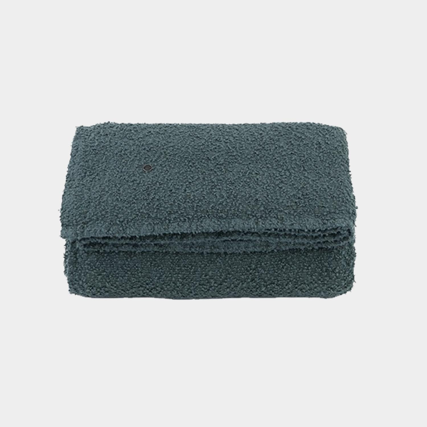 Bouclette Linen Throw, Slate