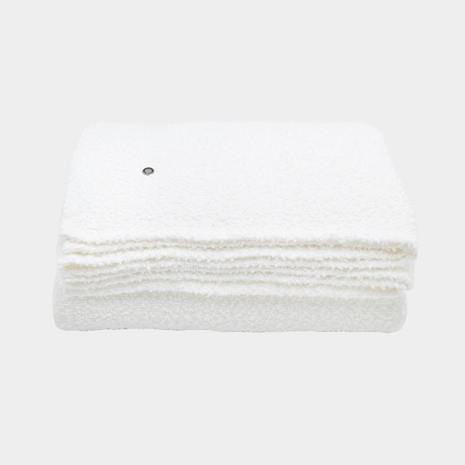 Bouclette Linen Throw, Cream