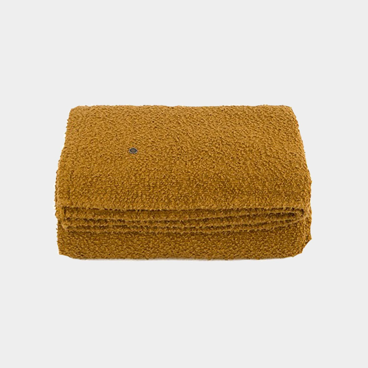Bouclette Linen Throw, Raw Sienna