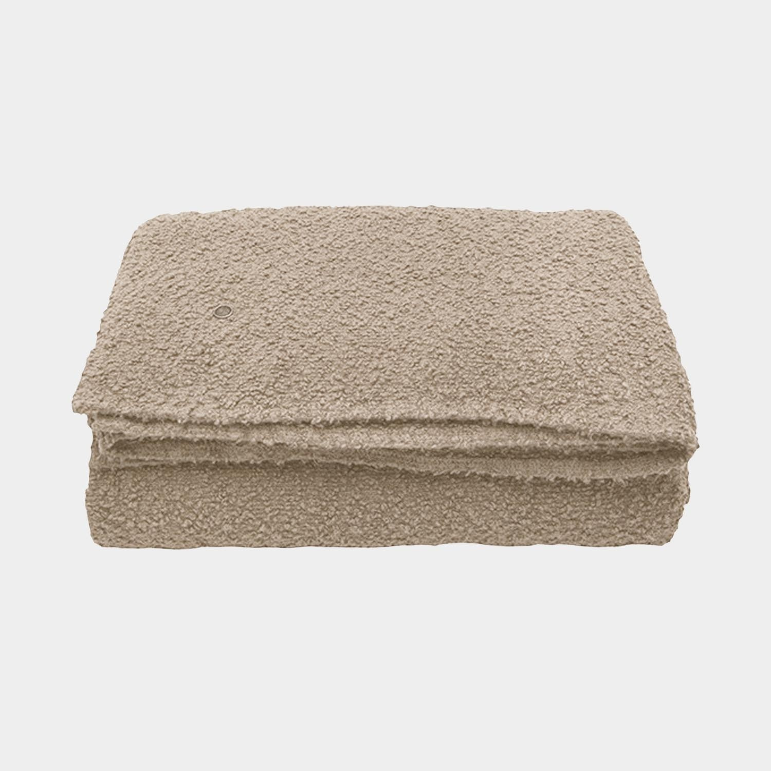 Bouclette Linen Throw, Portobello Beige