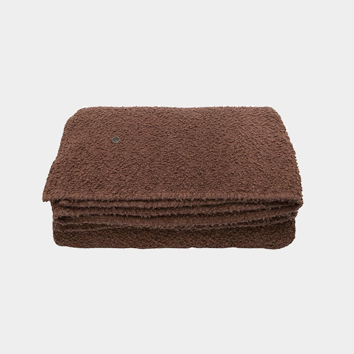 Bouclette Linen Throw, Terracotta