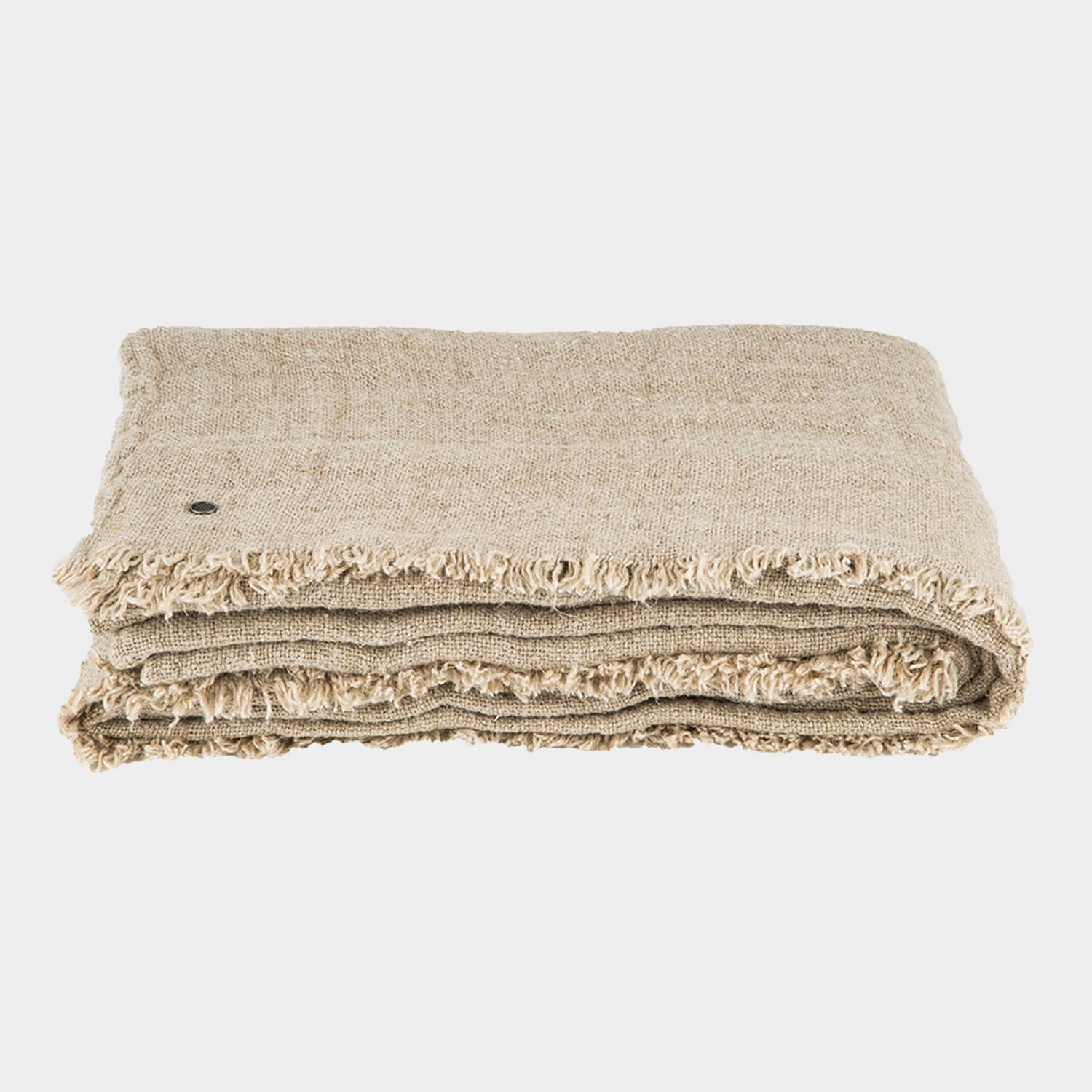 Rustic Linen Blanket Natural