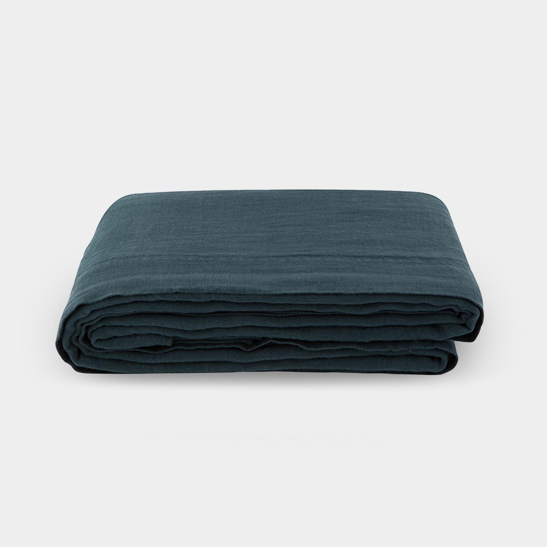 Linen Satin Flat Sheet, Slate