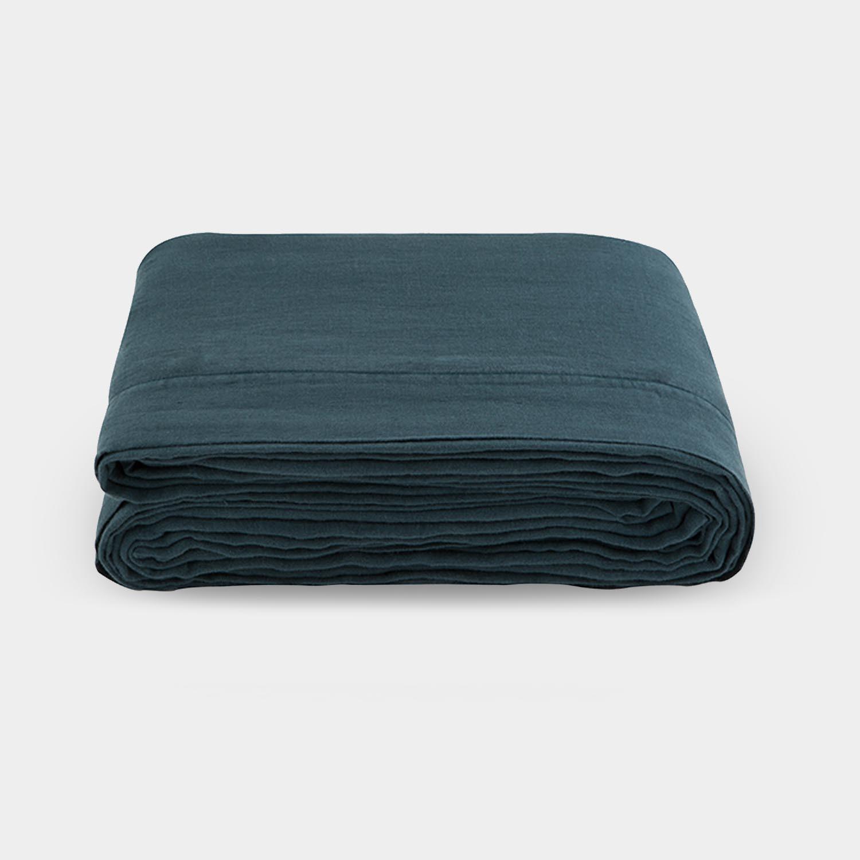 Linen Satin Duvet Cover, Slate