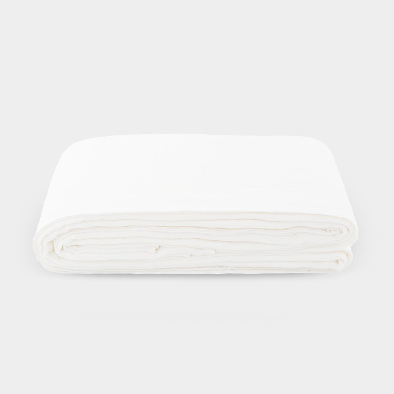 Linen Satin Flat Sheet, Cream