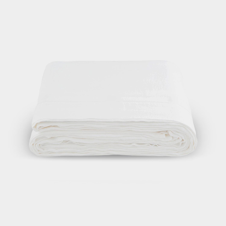 Linen Satin Duvet Cover, Cream