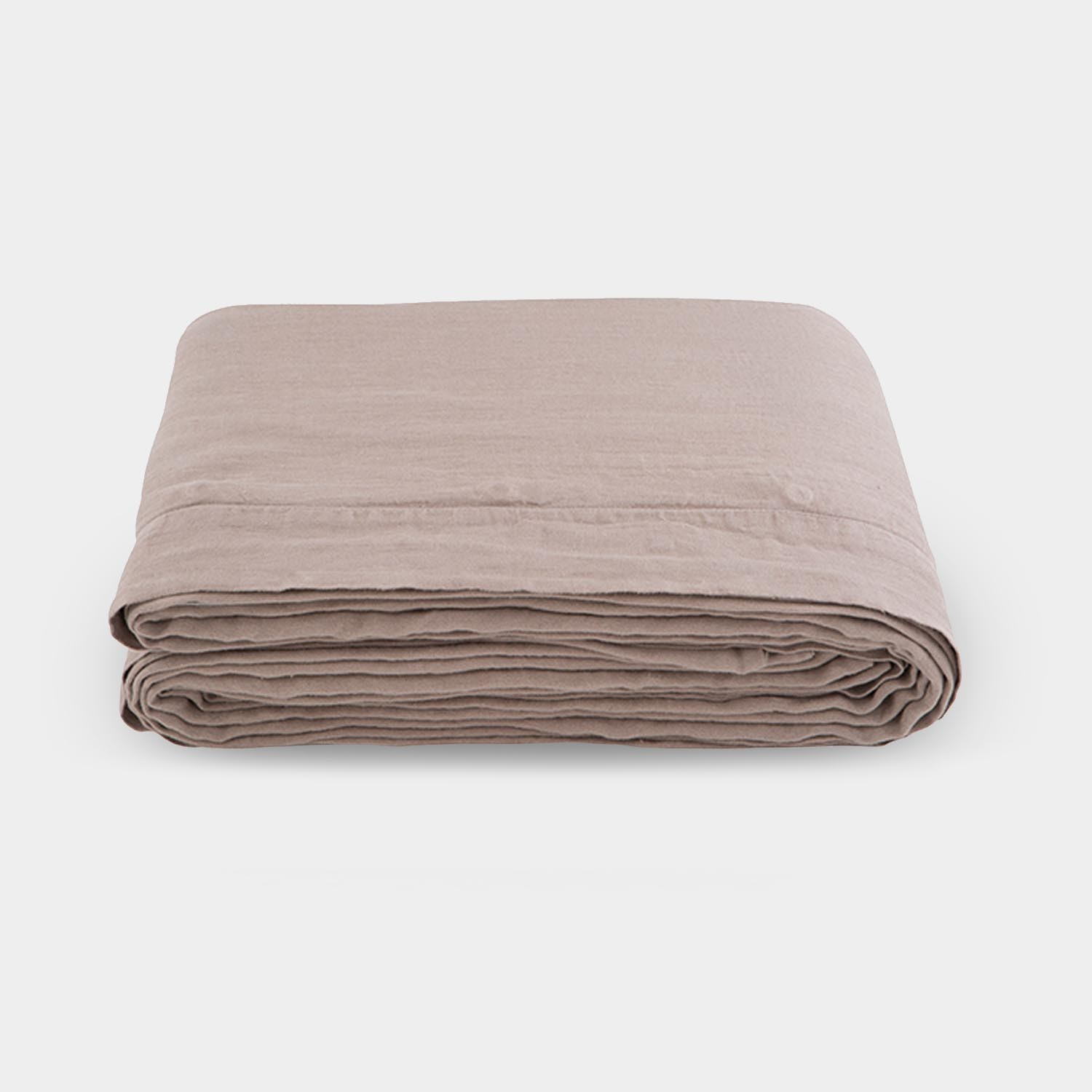 Linen Satin Duvet Cover, Warm Taupe