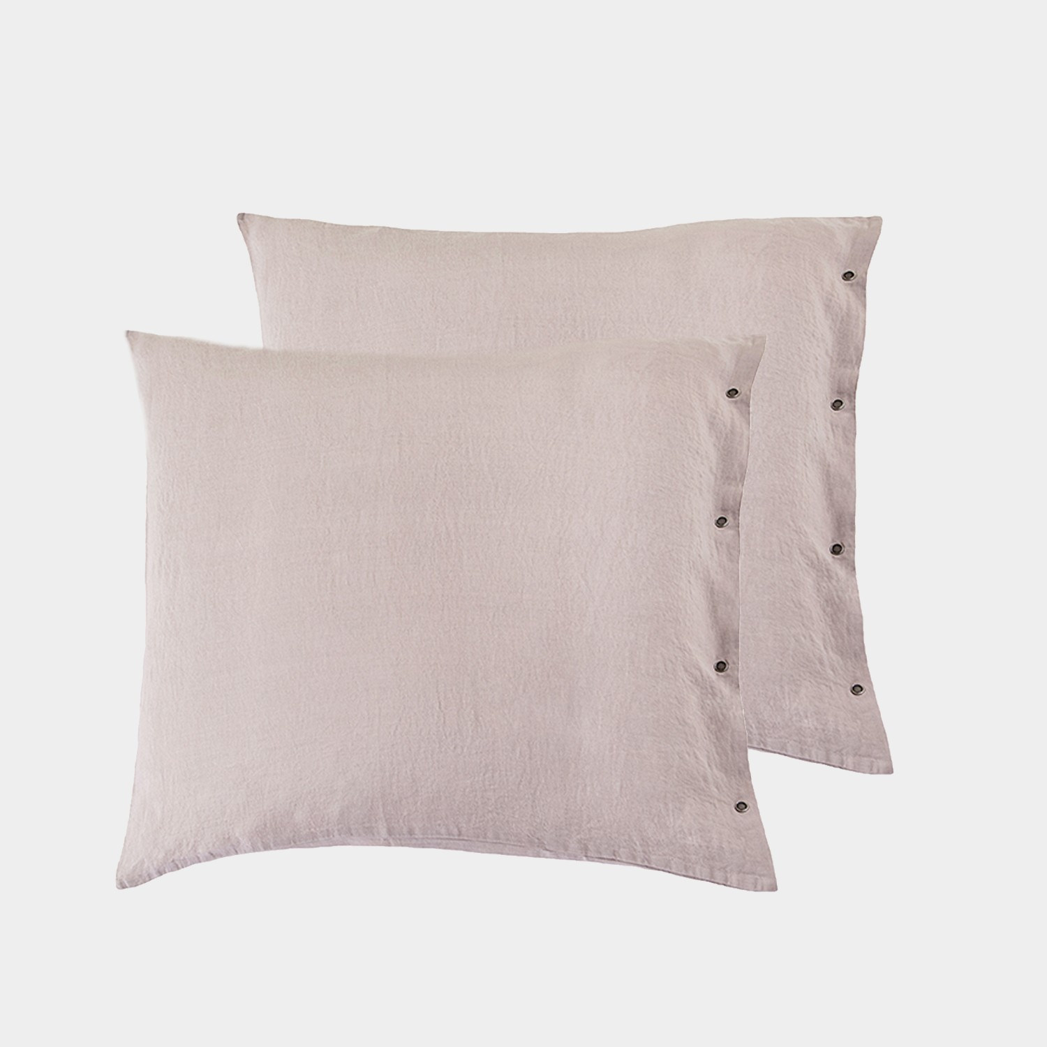Pair of Premium Linen European Shams Calamine
