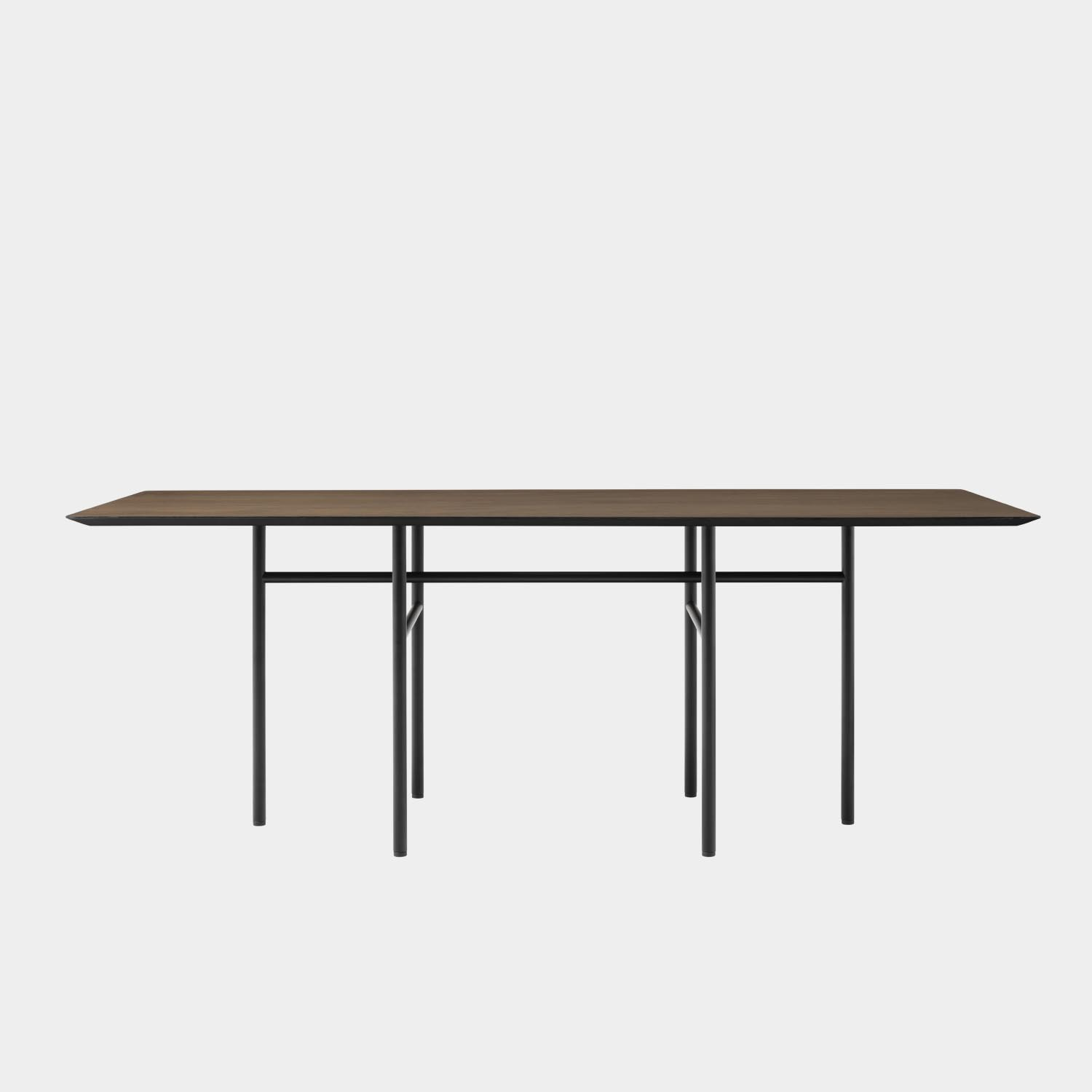 Snaregade Rectangular Dining Table, Black/Dark Stained Oak