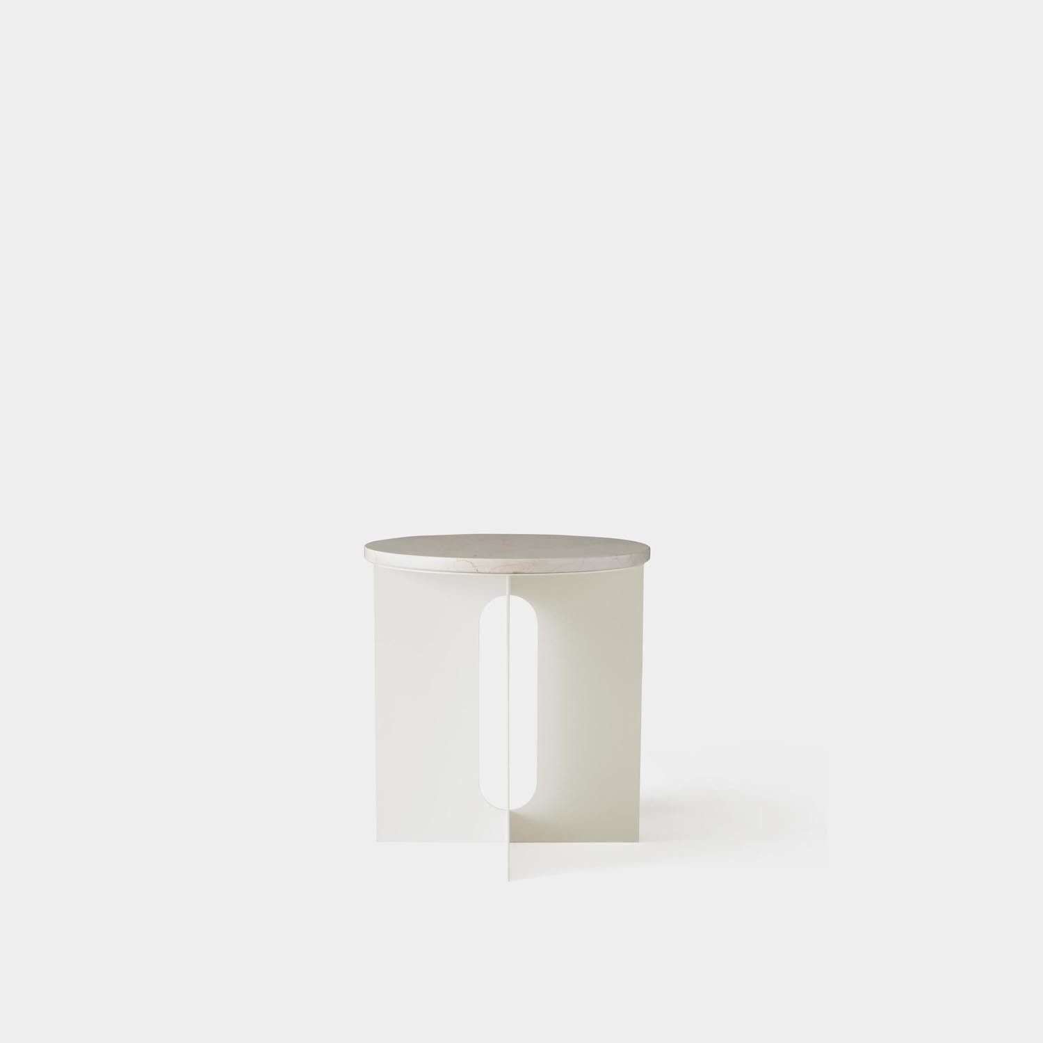 Side Table Androgyne, Ivory Marble
