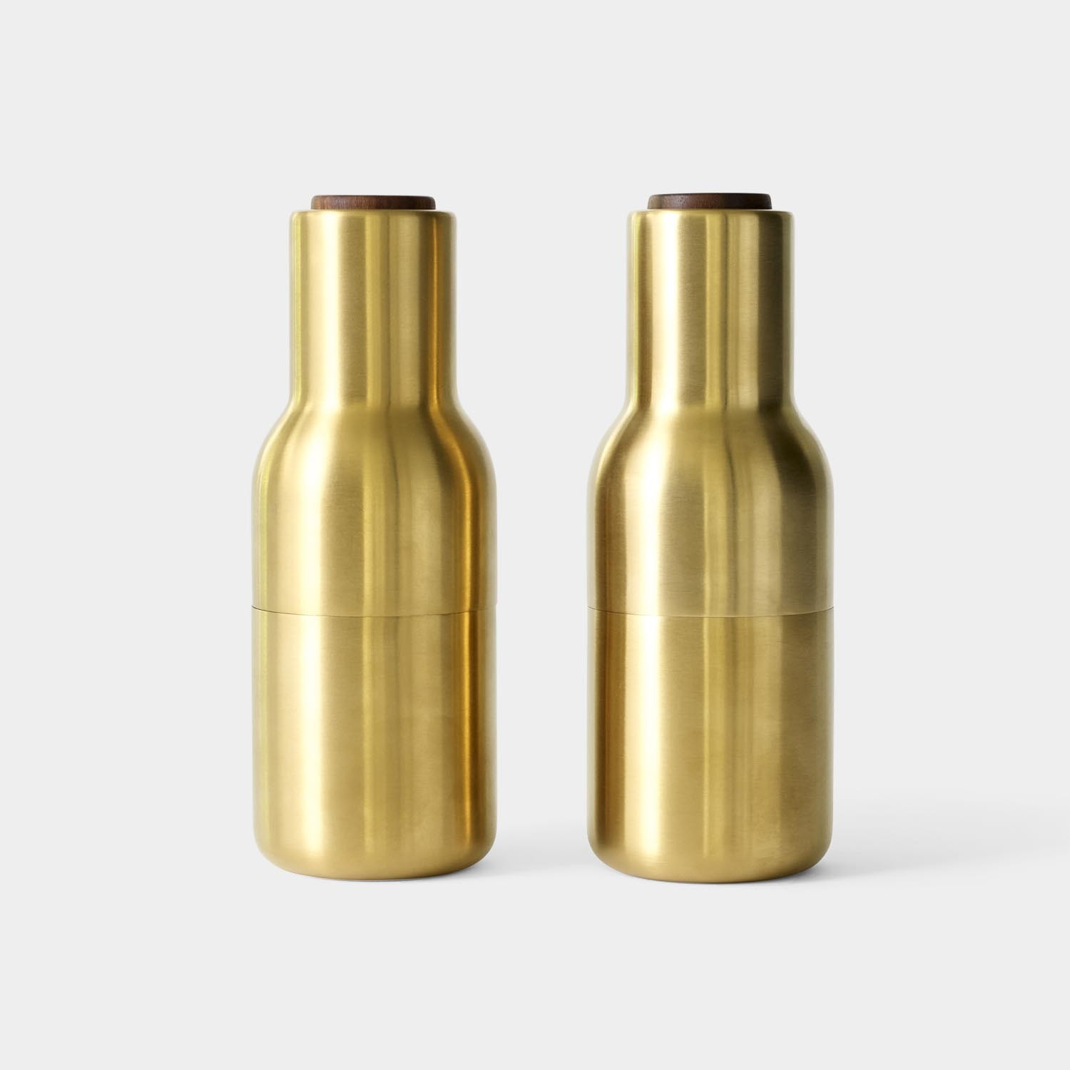 Bottle Grinders, Brushed Brass