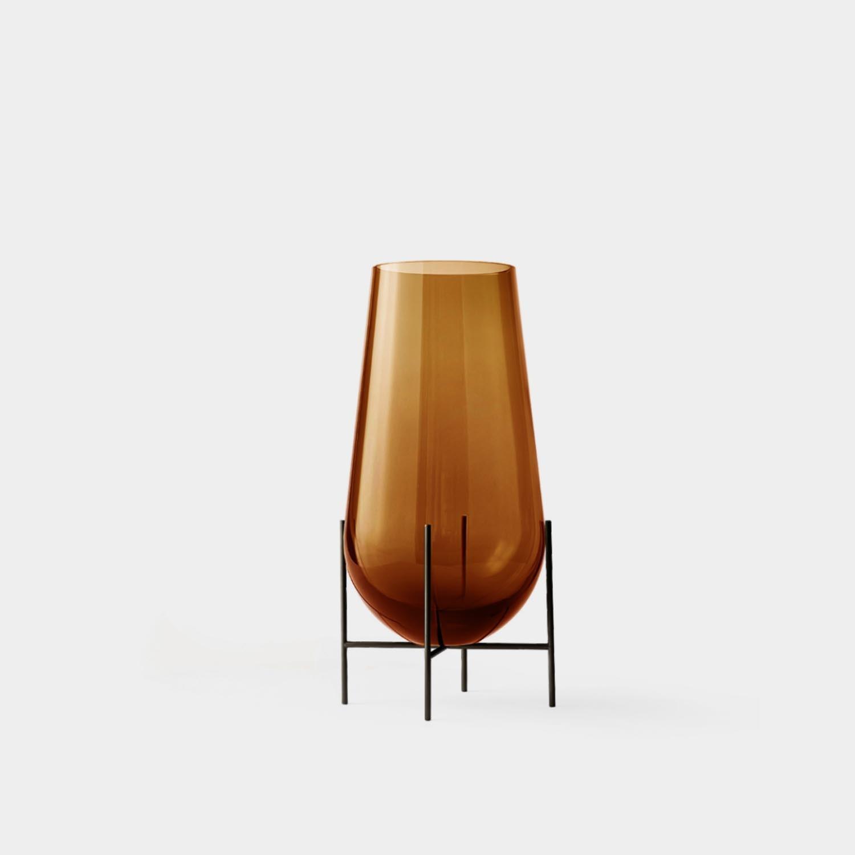 Echasse Vase, Amber Glass