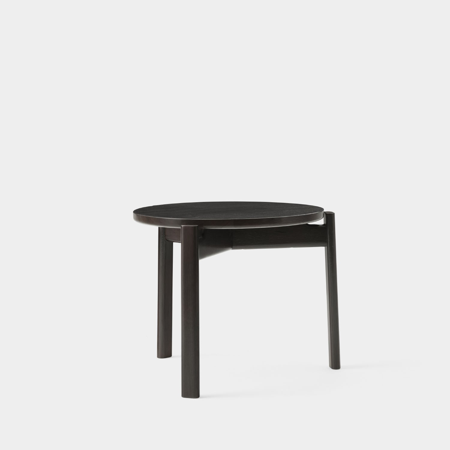 Passage Lounge Table, Dark Lacquered Oak