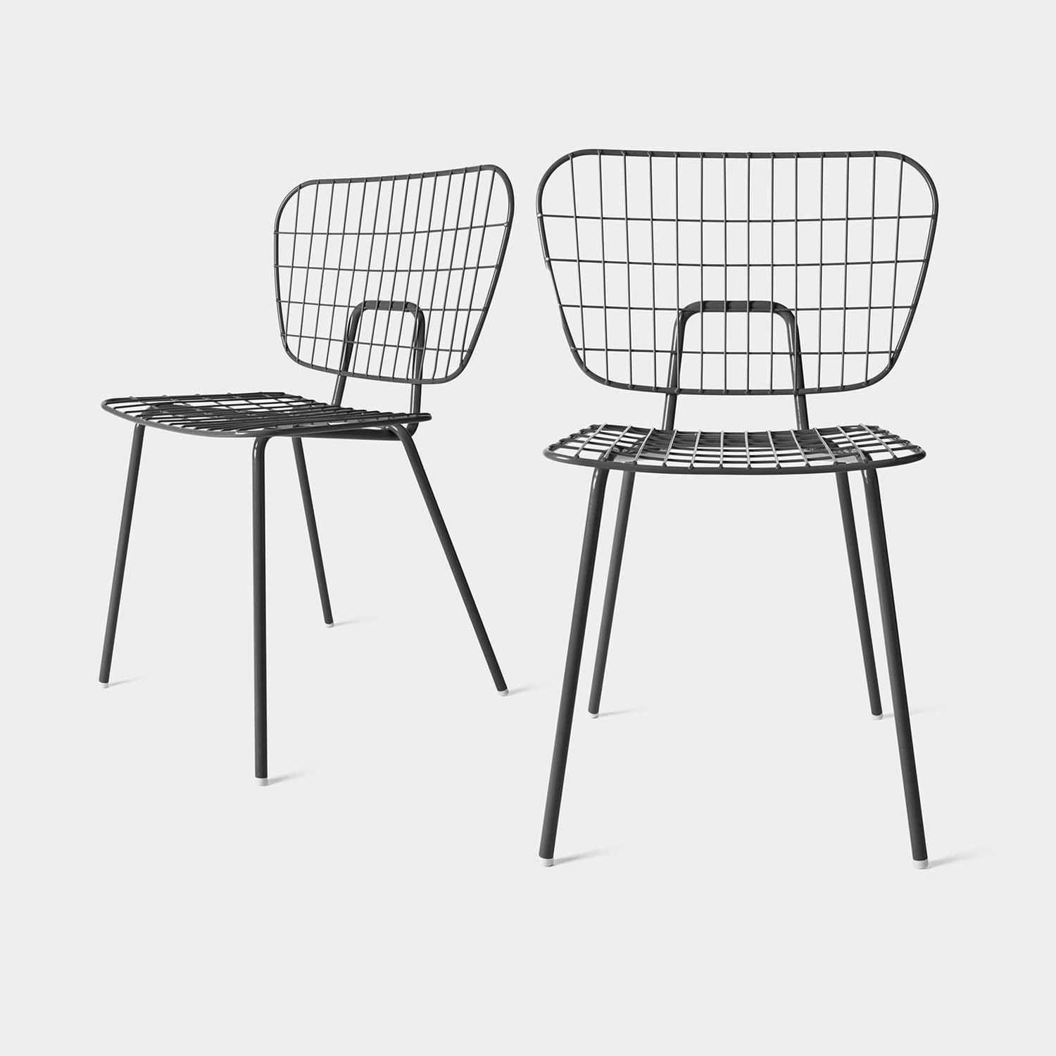 Set of 2 Dining Chairs String