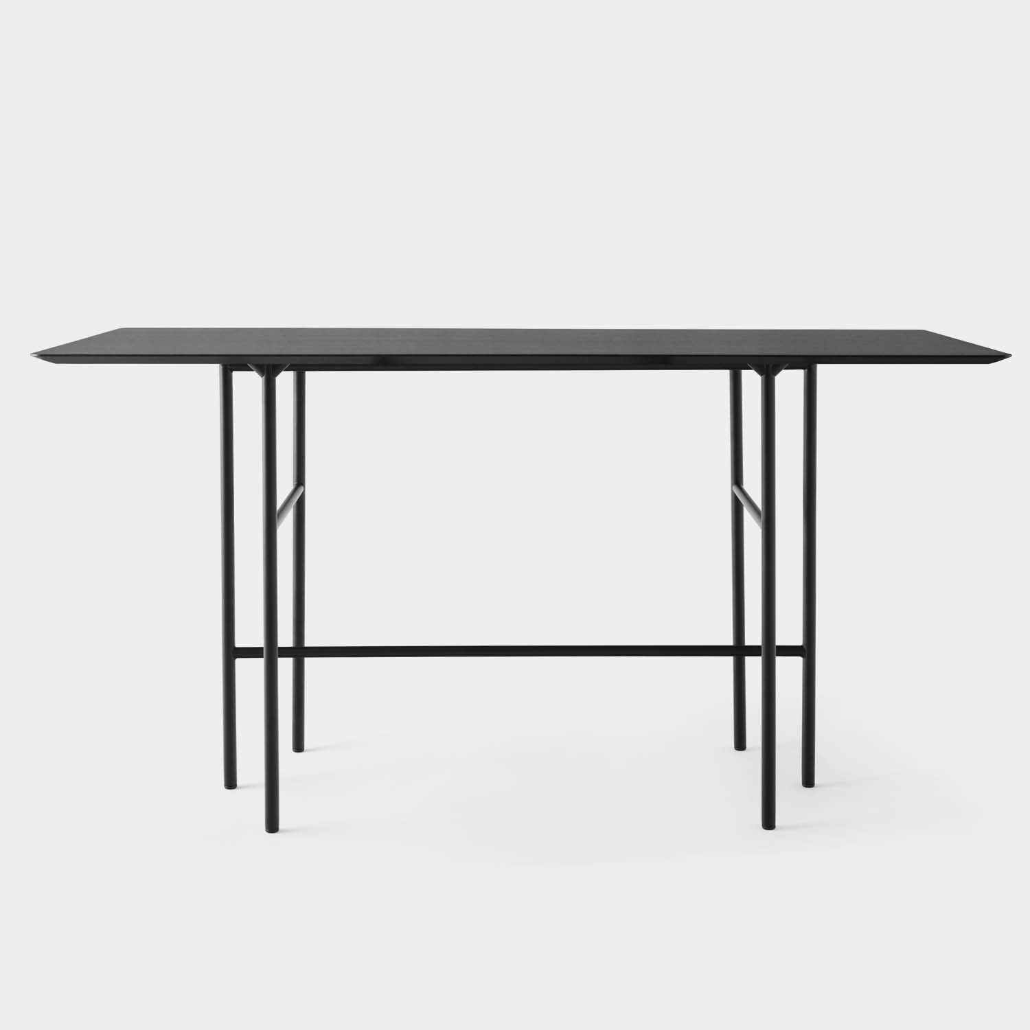 Snaregade Bar Table, Linoleum Top, Black Base