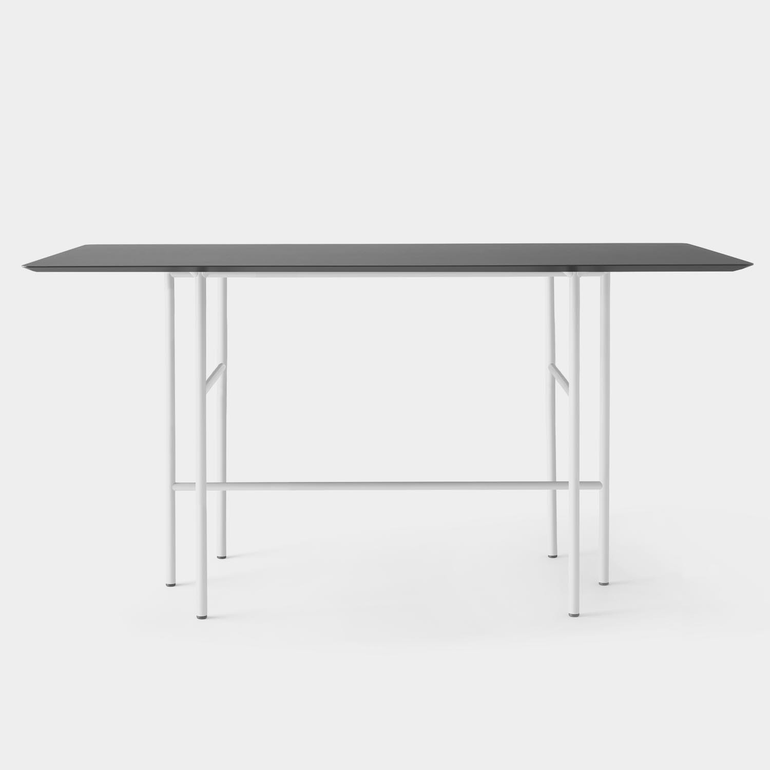 Snaregade Bar Table, Linoleum Top, Light Gray Base