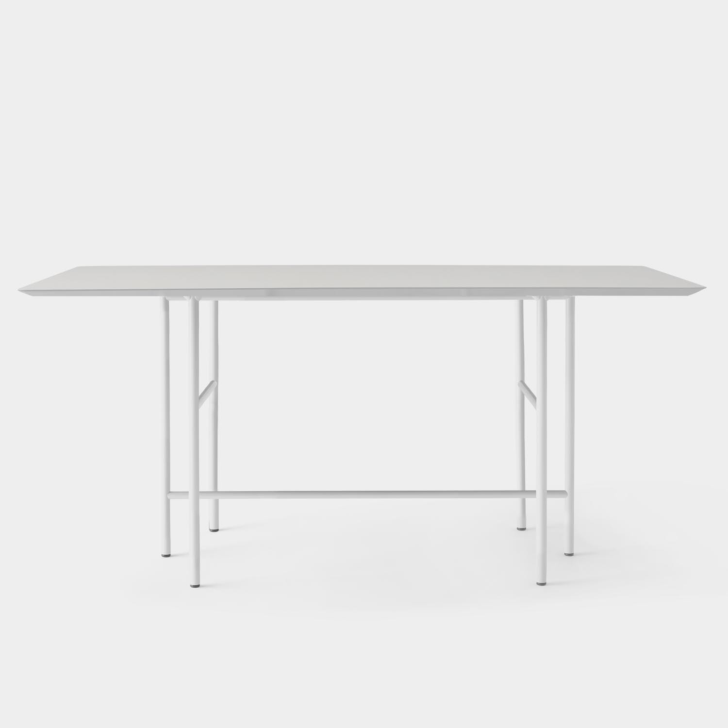 Snaregade Counter Table, Linoleum Top, Light Gray Base