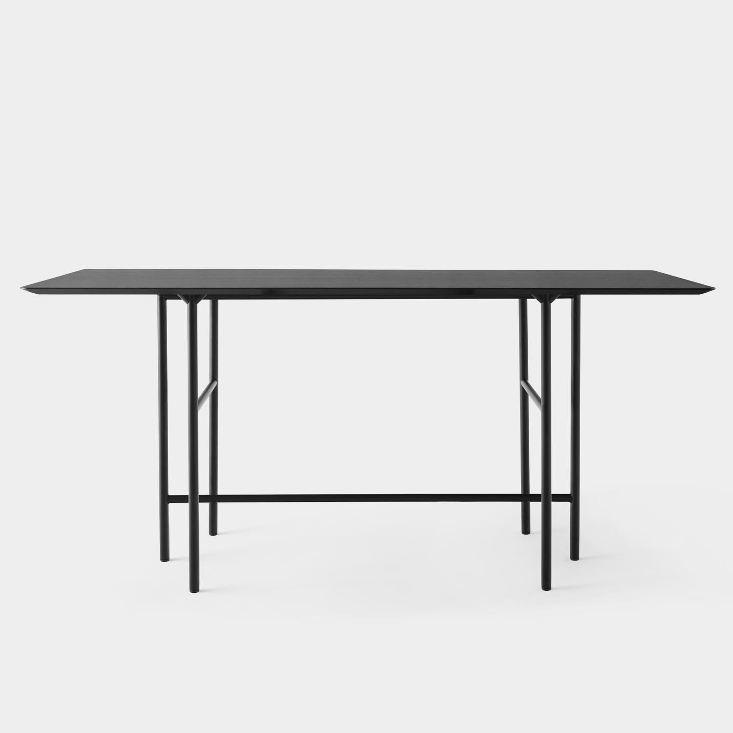 Snaregade Counter Table, Oak Top, Black Base