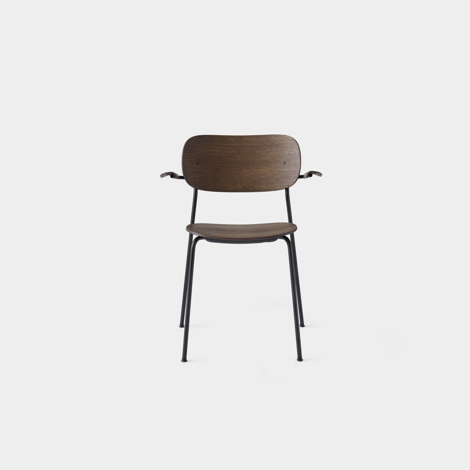 Co Chair with Armrest, Dark Oak