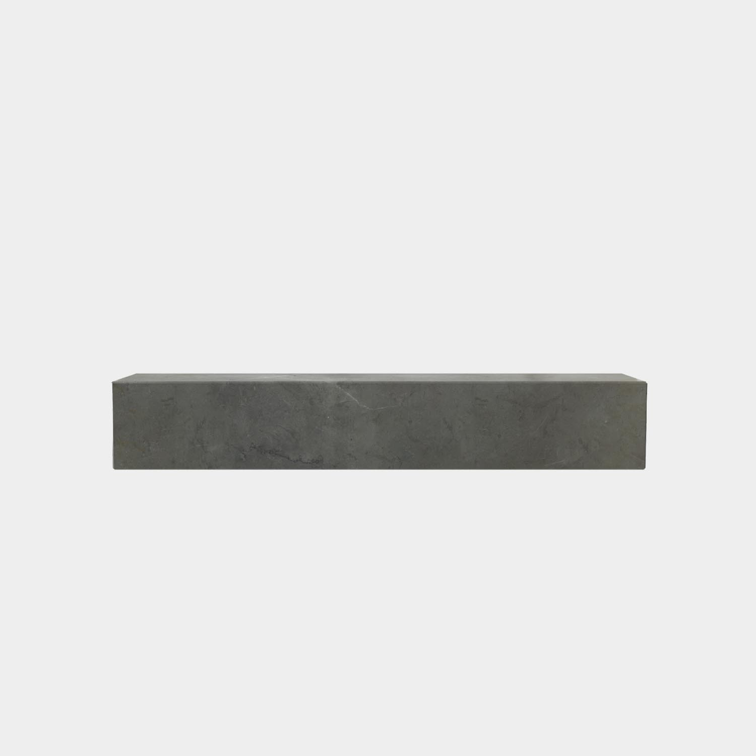 Shelf Plinth, Gray Kendzo Marble