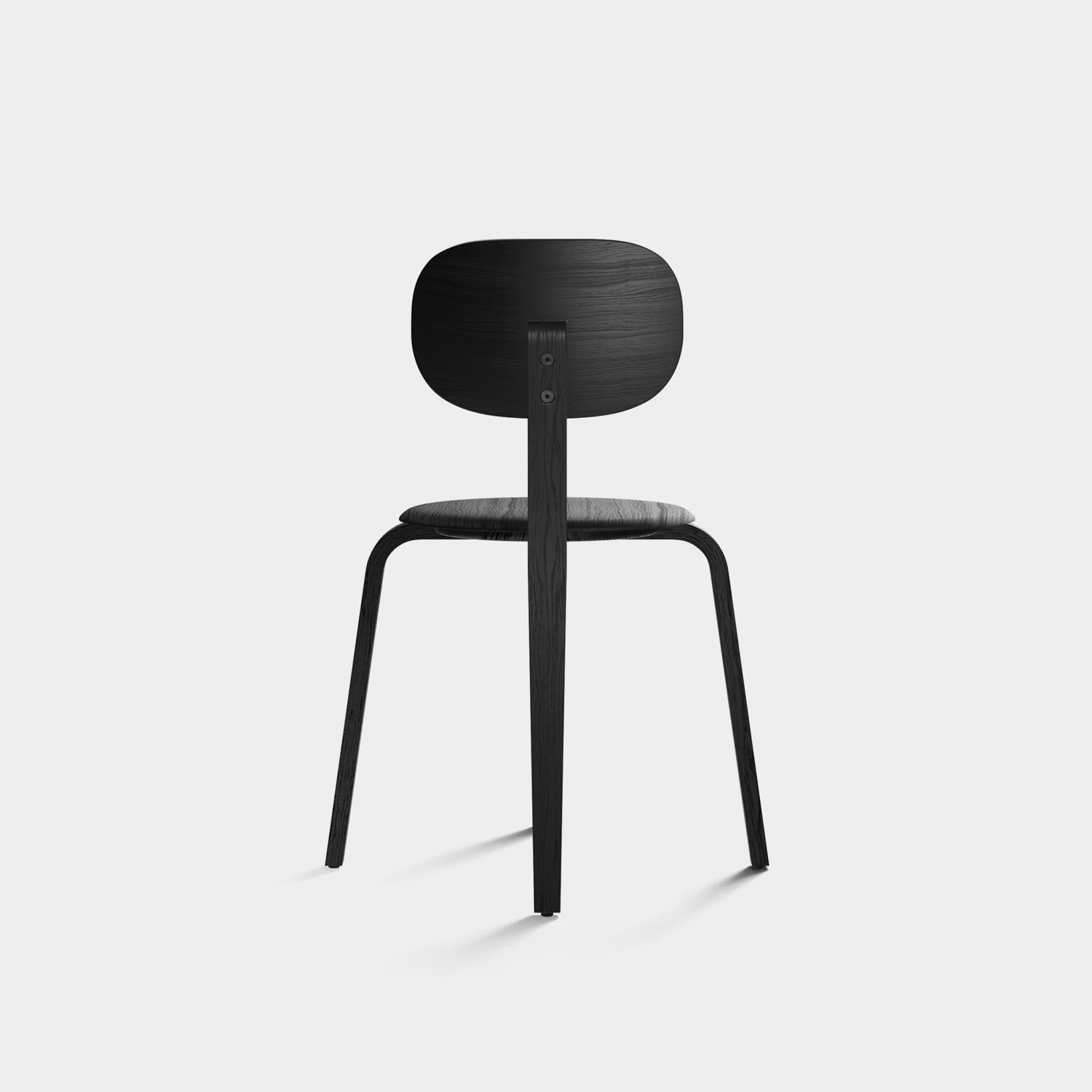 Afteroom Plywood Chair, Black Ash