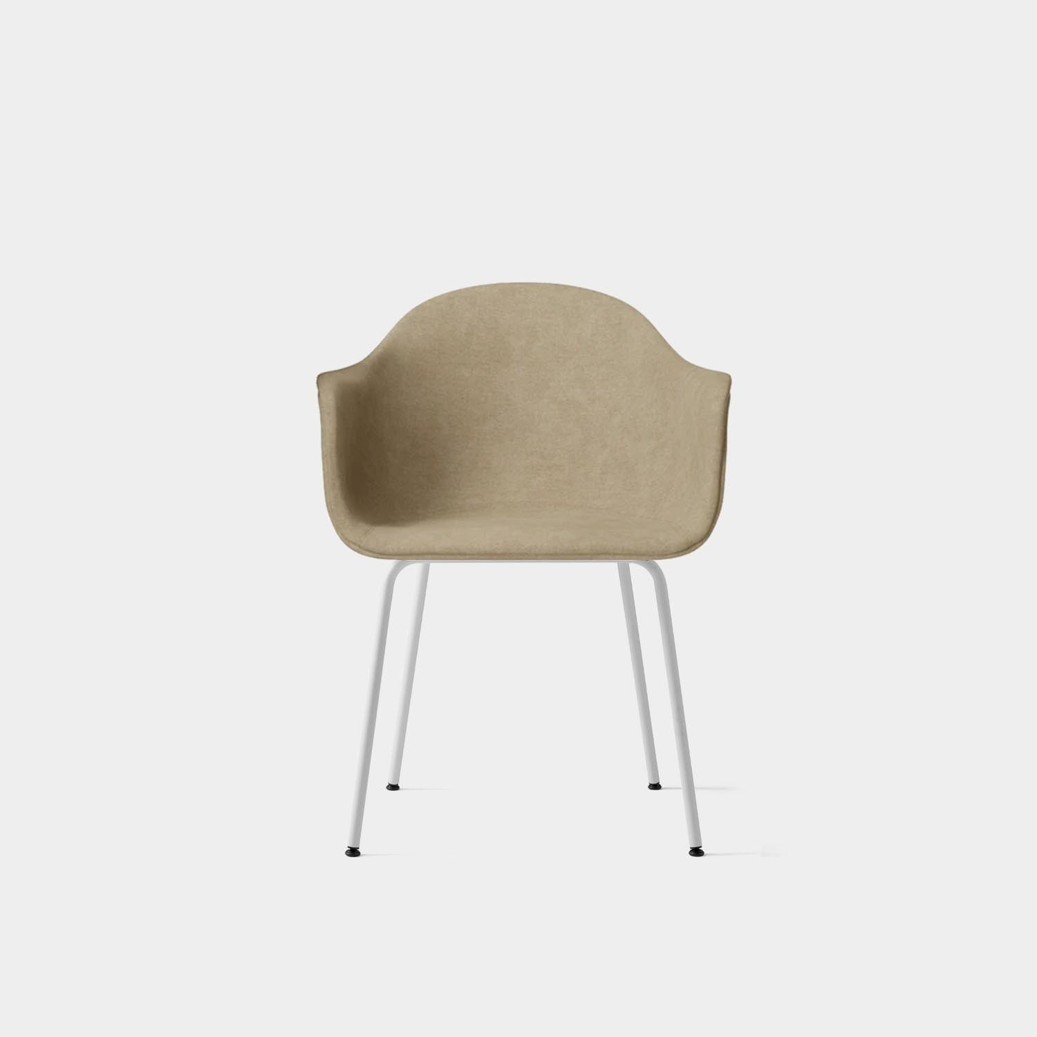 Chair Harbour, White Base, Beige Wool