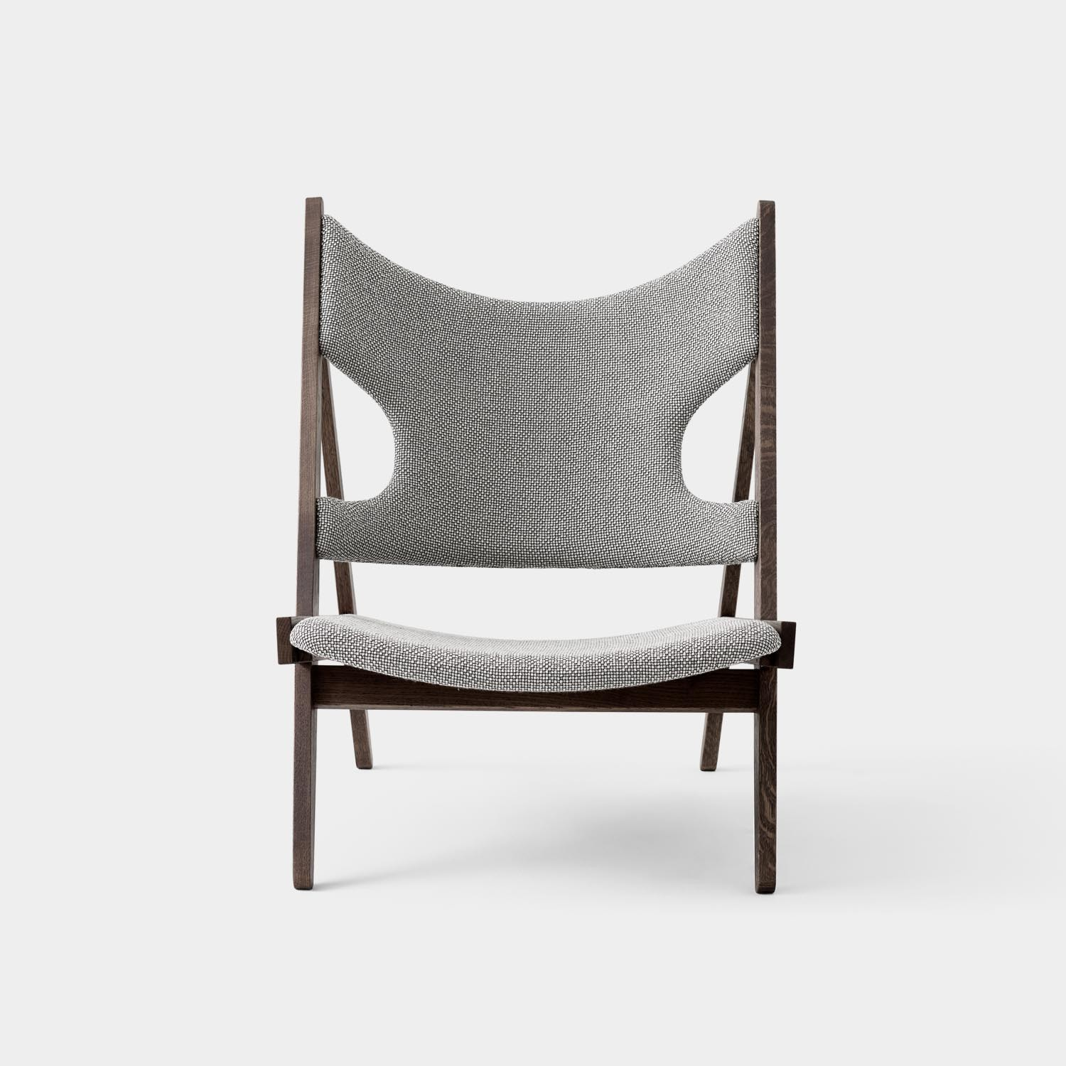 Knitting Lounge Chair, Gray Textile