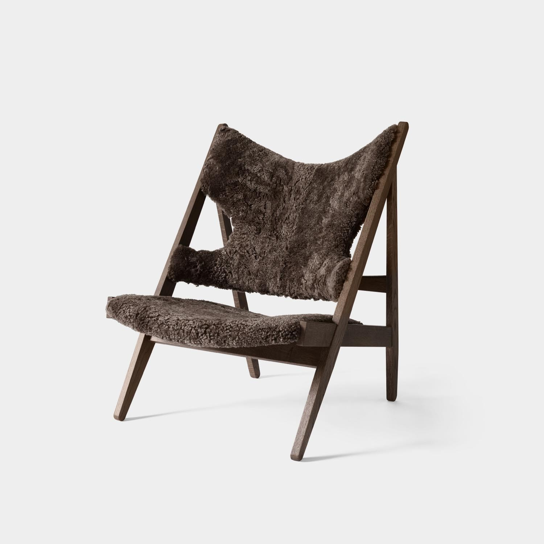 Knitting Louge Chair, Dark Oak, Sheepskin