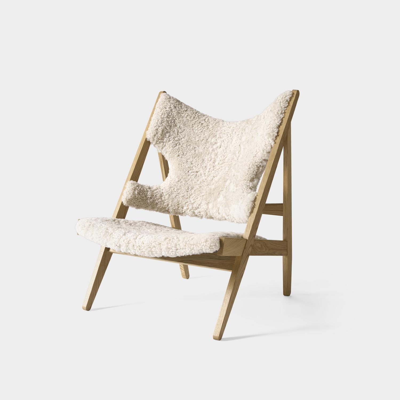 Knitting Lounge Chair, Natural Oak, Sheepskin