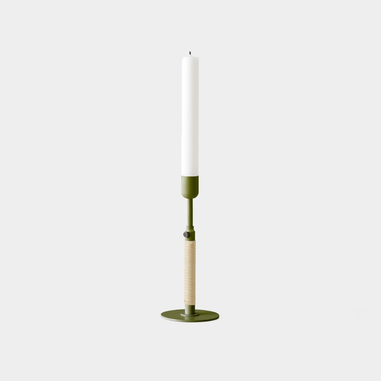 Duca Candleholder, Olive Green