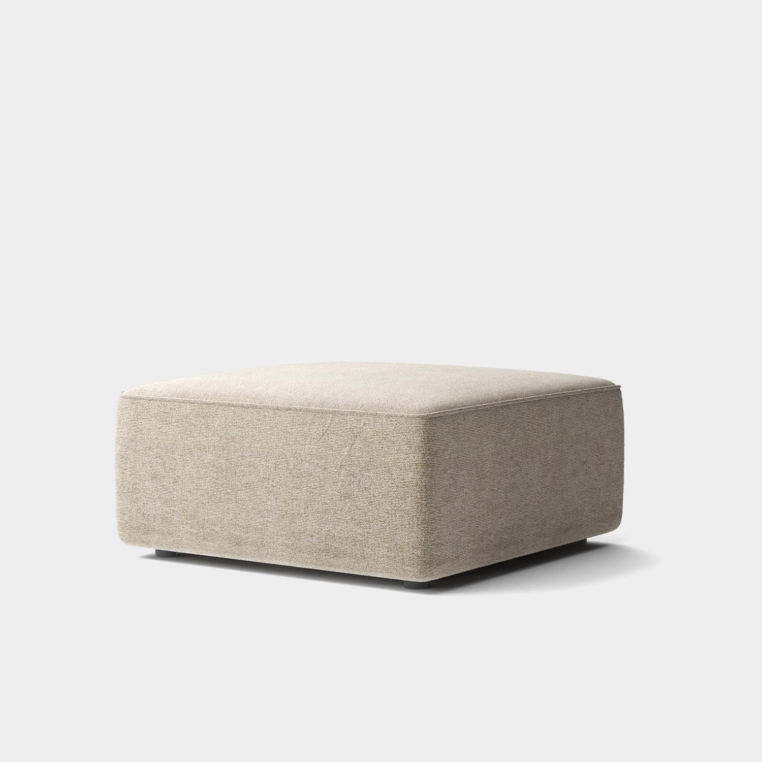 "Eave Modular Sofa 34"", Pouf Module 34"", Category 2 Fabric, Made to Order"