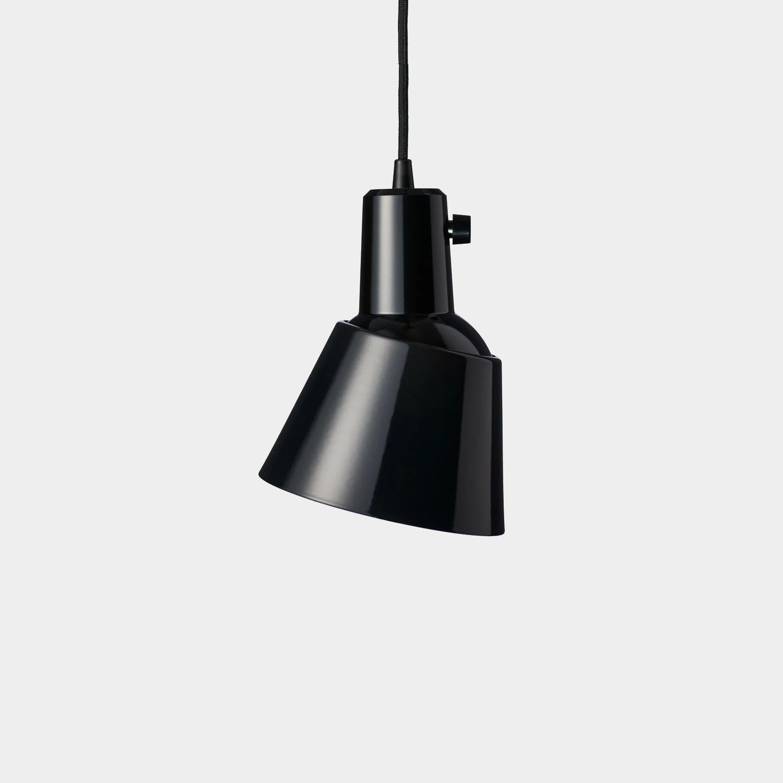 K 831 Pendant Light, Black Enamel