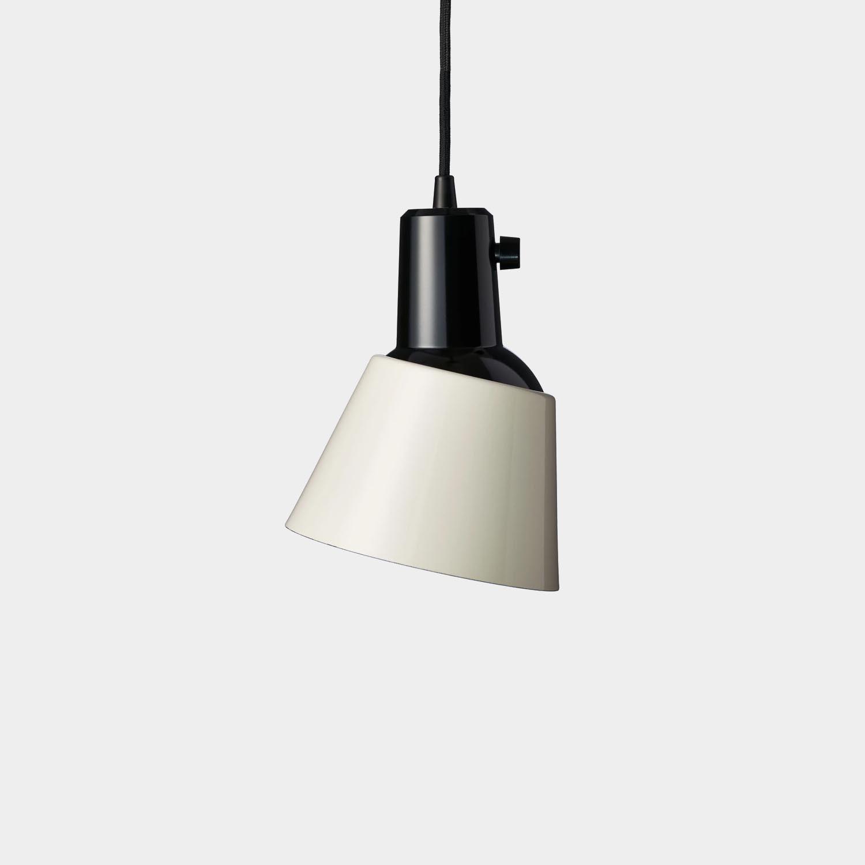 K 831 Pendant Light, Pearl White Enamel