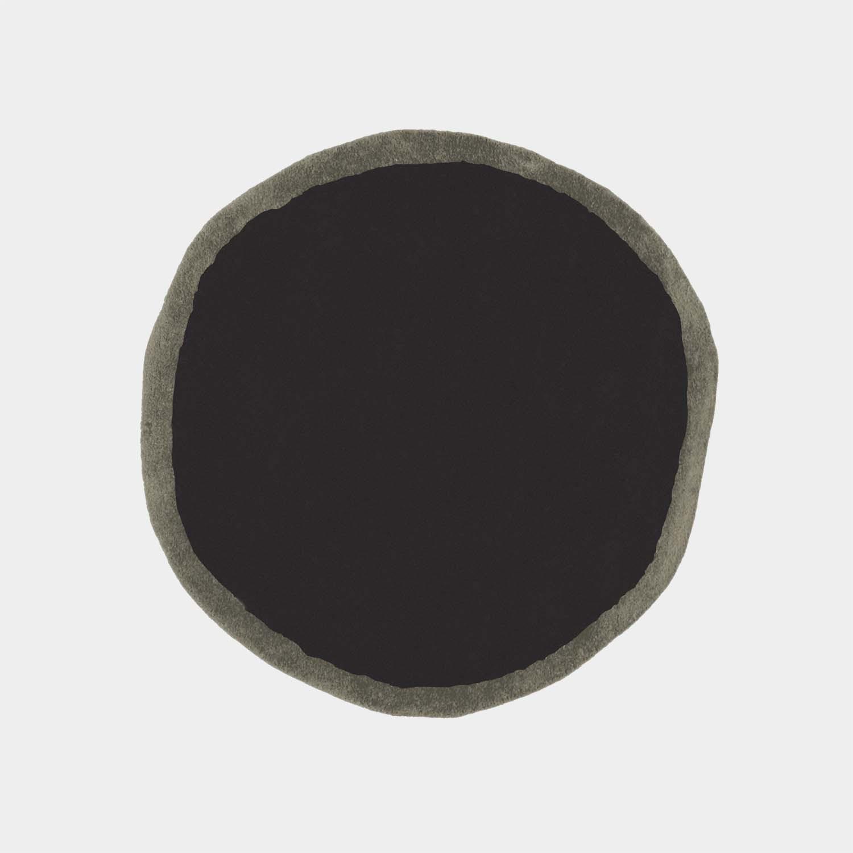 Aros Round 2 Black Rug