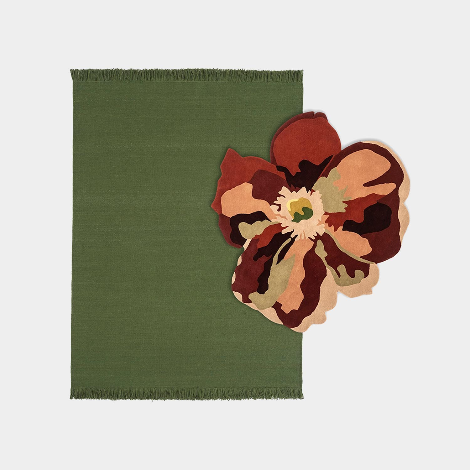 Composition Rug Colors Basil Medium + Bloom 2