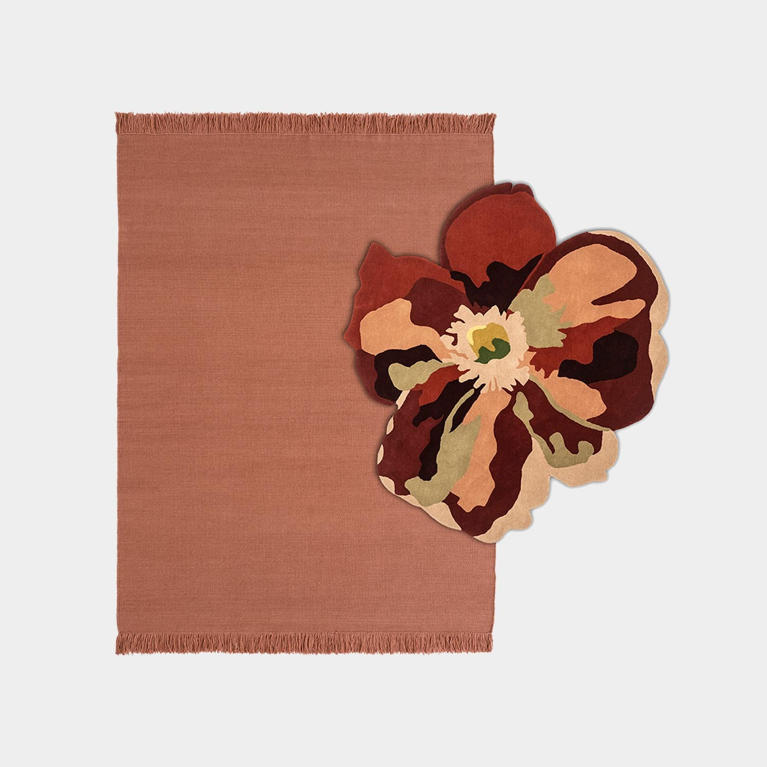 Composition Rug Colors Blush Medium + Bloom 2