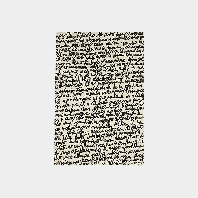 Black on White Manuscrit Rug