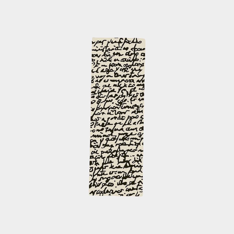 Black on White Manuscrit Runner