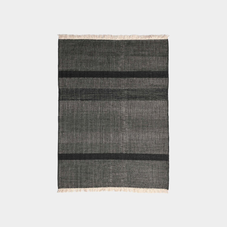 Tres Texture Rug, Black, Medium