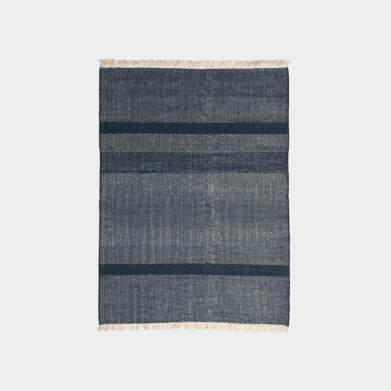 Tres Texture Rug, Blue, Medium