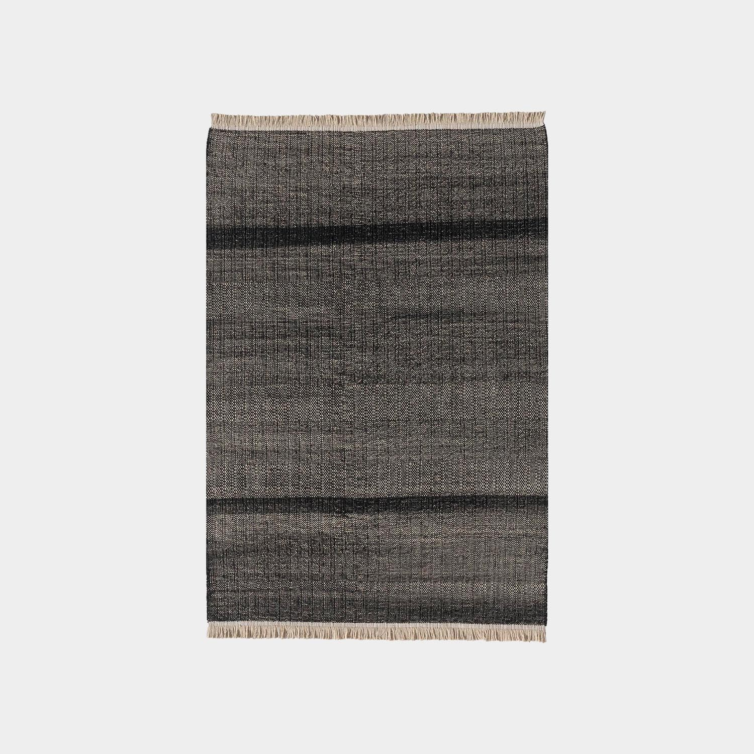 Tres Texture Black Outdoor Rug