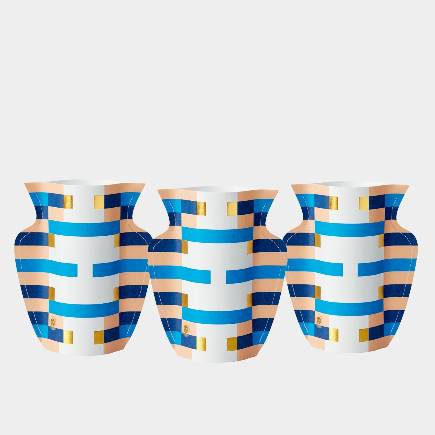 Paper Vase Costa Small (Set of 3)