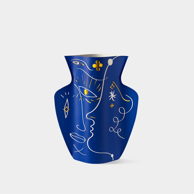 Paper Vase 'Jaime Hayon' Blue