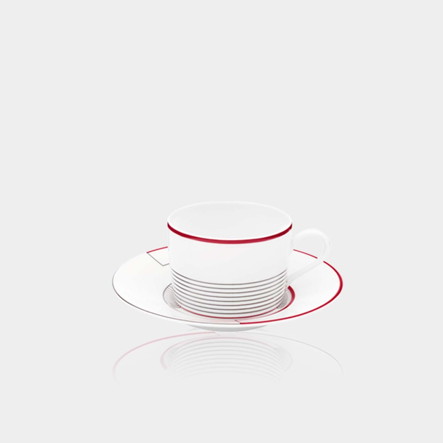 Tea cup and Saucer Initiales Medianes