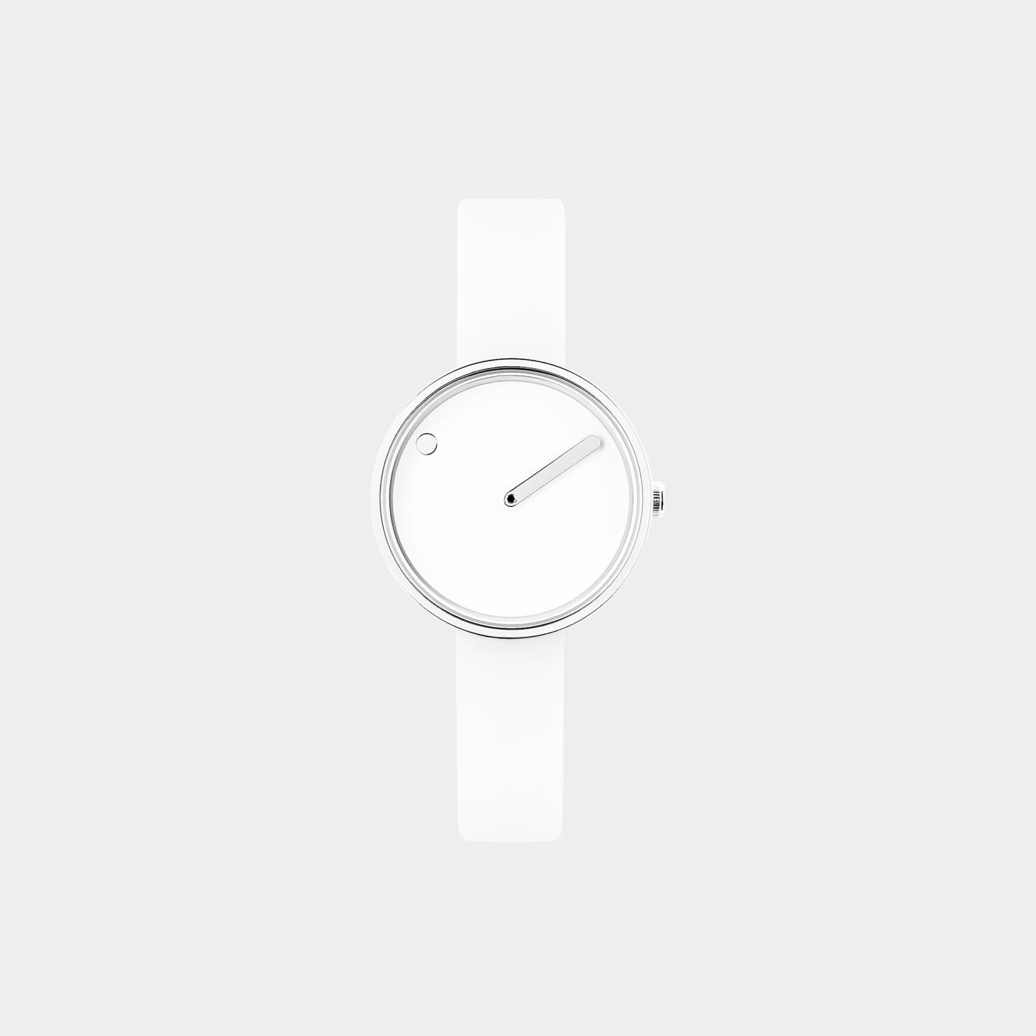 PICTO® Watch 30mm White / Polished Steel
