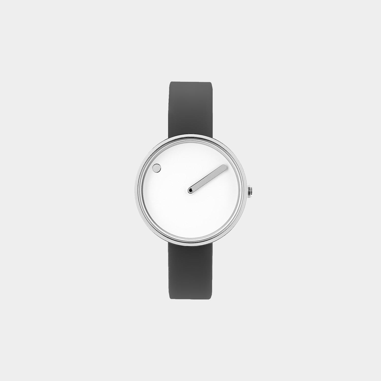 PICTO® Watch 30mm White / Polished Steel, Gray Band